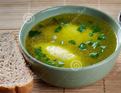 Soupe de boulettes de semoule